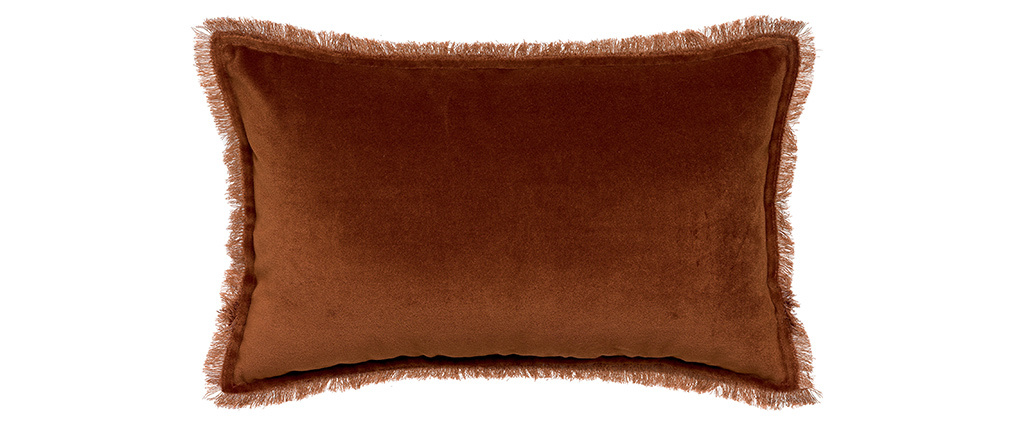 Coussin velours caramel 30 x 50 cm PESCA