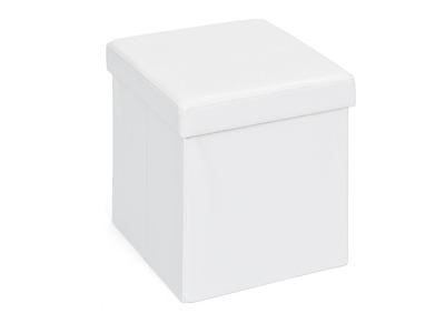 Cube de rangement pliable design PU blanc BOXY