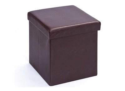 Cube de rangement pliable design PU marron BOXY