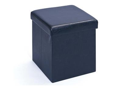Cube de rangement pliable design PU noir BOXY