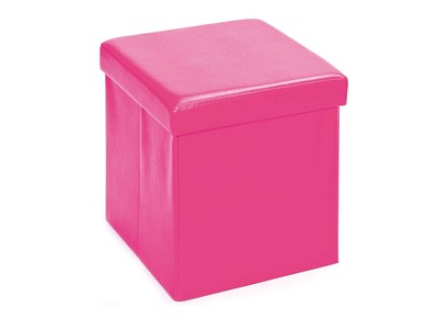 Cube de rangement pliable design PU rose BOXY