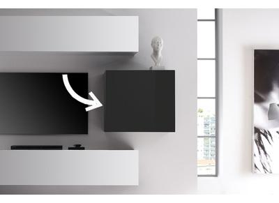 Ensemble mural tv nos meubles de salon miliboo miliboo for Element mural tv