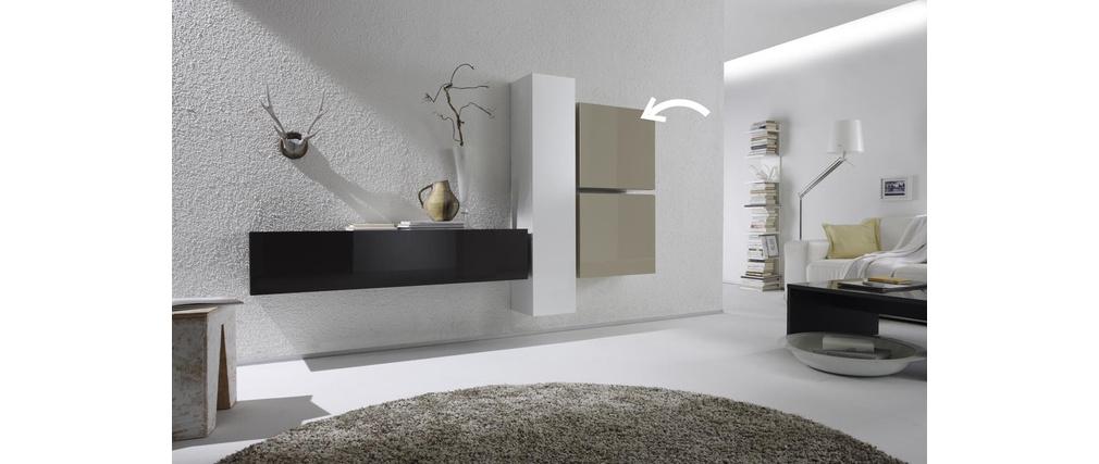 el ment mural colored carr laqu ecru miliboo. Black Bedroom Furniture Sets. Home Design Ideas