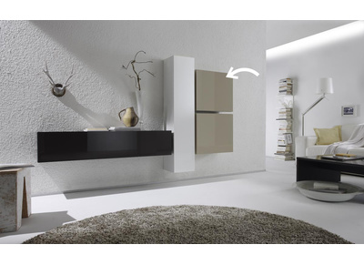 ensemble mural tv nos meubles de salon miliboo miliboo. Black Bedroom Furniture Sets. Home Design Ideas