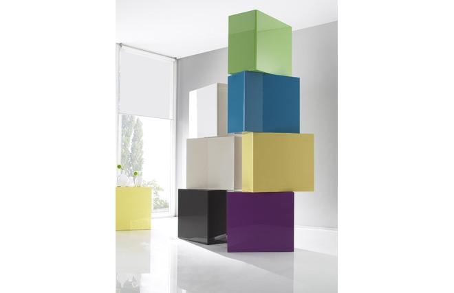 el ment mural colored carr laqu vert miliboo. Black Bedroom Furniture Sets. Home Design Ideas