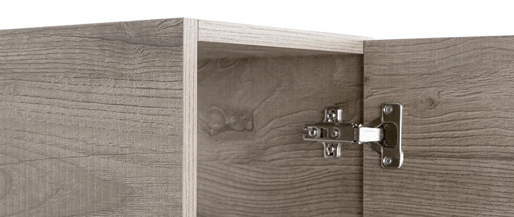 Élément mural design bois grisé vertical COLORED V2