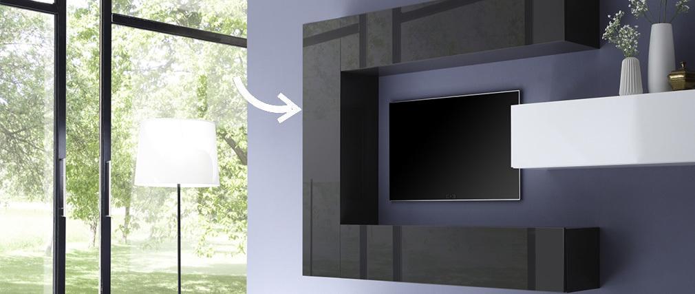 Élément mural design vertical gris anthracite laqué COLORED V2