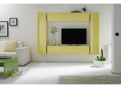 Soldes meuble t l vision design pour votre salon miliboo - Element mural tv ...