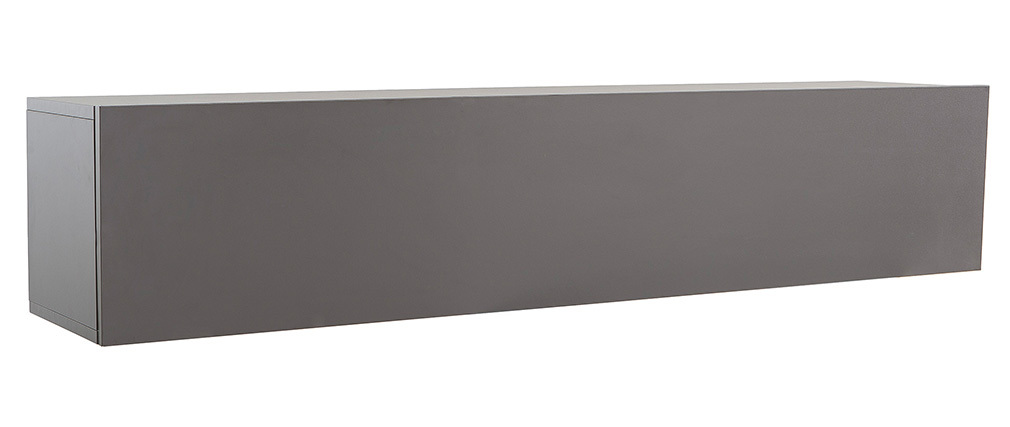 Élément mural TV design gris anthracite mat horizontal COLORED V2