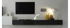 Élément mural TV design laqué gris anthracite horizontal COLORED V2