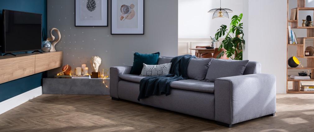 Élément mural TV horizontal bois clair ETERNEL