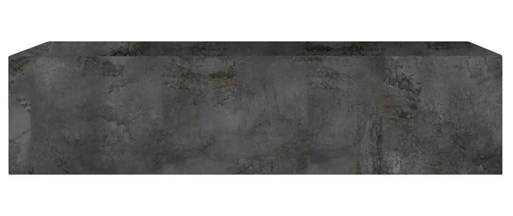 Élément mural TV horizontal finition métal oxydé ETERNEL