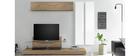 Élément mural TV vertical laqué blanc ETERNEL