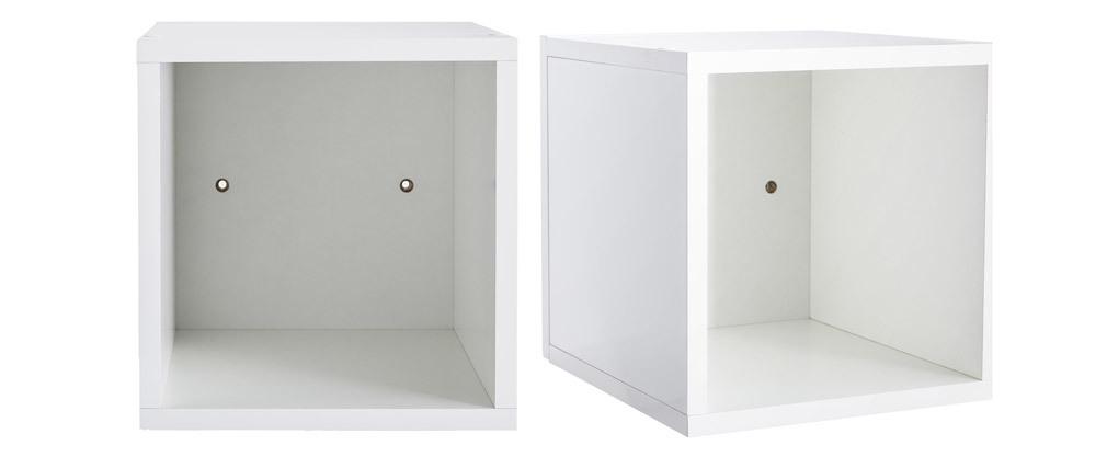 Eléments muraux carrés laqués brillant blanc (lot de 2) ETERNEL