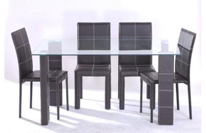 Ensemble banak table manger et 4 chaises de salle for Ensemble table et chaise salle a manger design