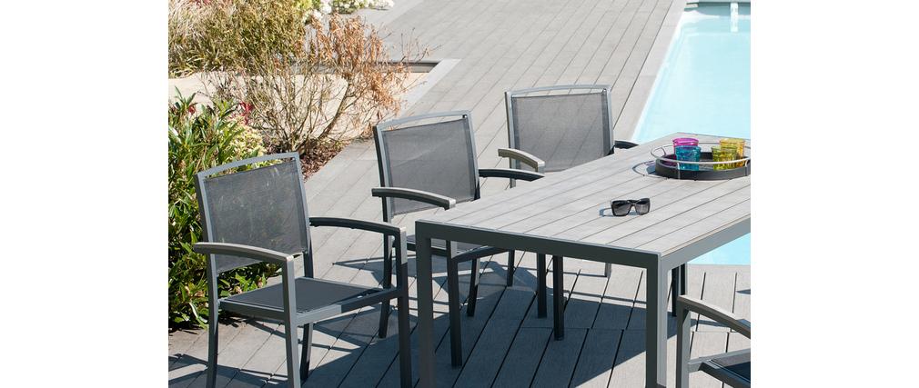 Ensemble de jardin en alu table et  6 fauteuils STARK