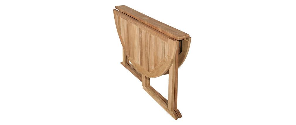 Ensemble de jardin en teck et 4 chaises SABA