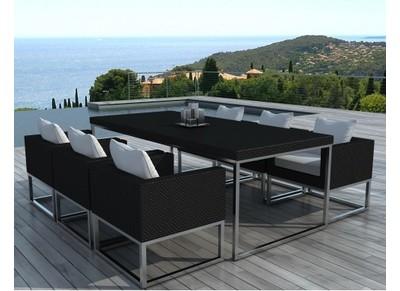 Salon de jardin meubles et mobilier de jardin pas cher for Ensemble table et chaises resine tressee pas cher