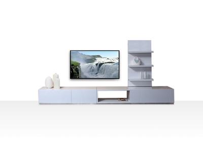 Ensemble mural TV design blanc brillant CRYPTON