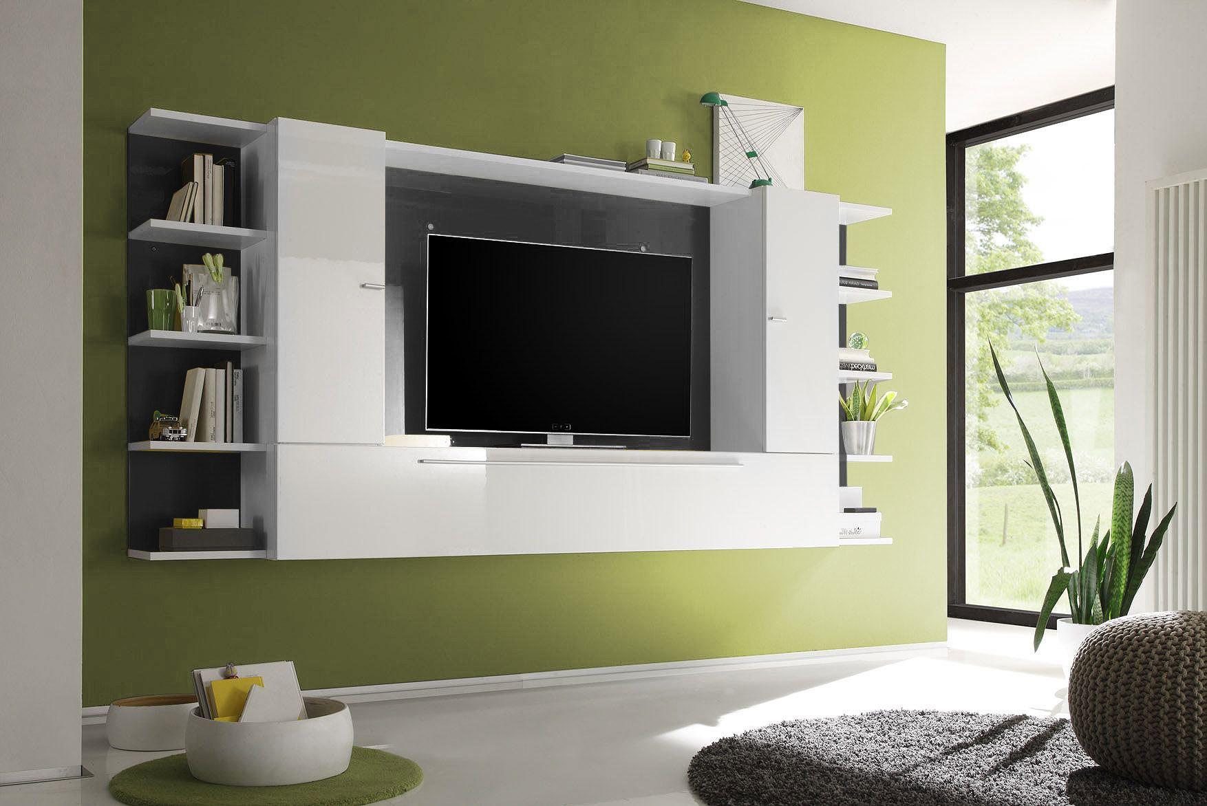 Meuble Tv Mural Blanc Et Gris Luvenia Artzein Com # Meuble Tv Nexus