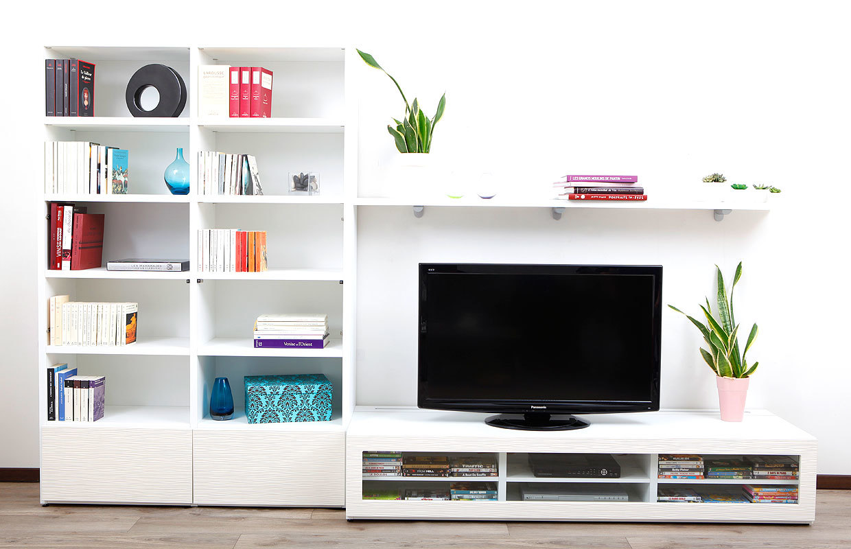 Ensemble Meuble Tv Mural Taupe Artzein Com # Punch Meuble Tv
