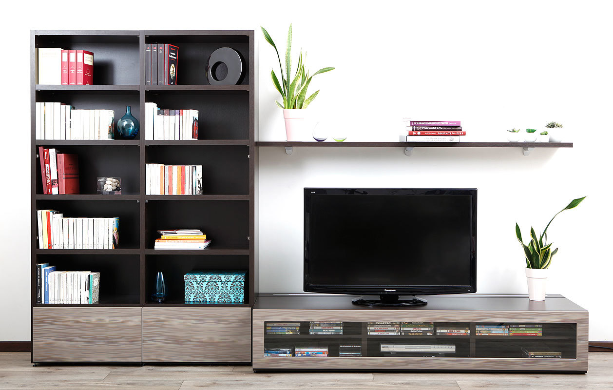 Meuble Tv Design Taupe Neva Atylia Artzein Com # Ensemble Meuble Tv Groupon