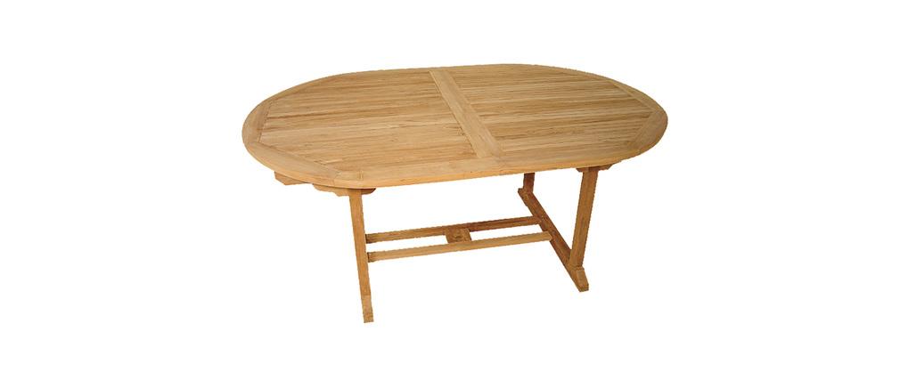 Ensemble table de jardin et 6 fauteuils en teck FOGO