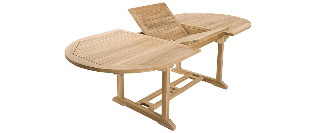 Ensemble table de jardin extensible et 6 fauteuils empilables en ...