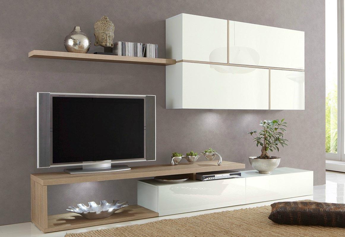 Meuble Tv Blanc Laqu Et Chene Artzein Com # Meubles Tv Chene Et Laque Blanc Mat