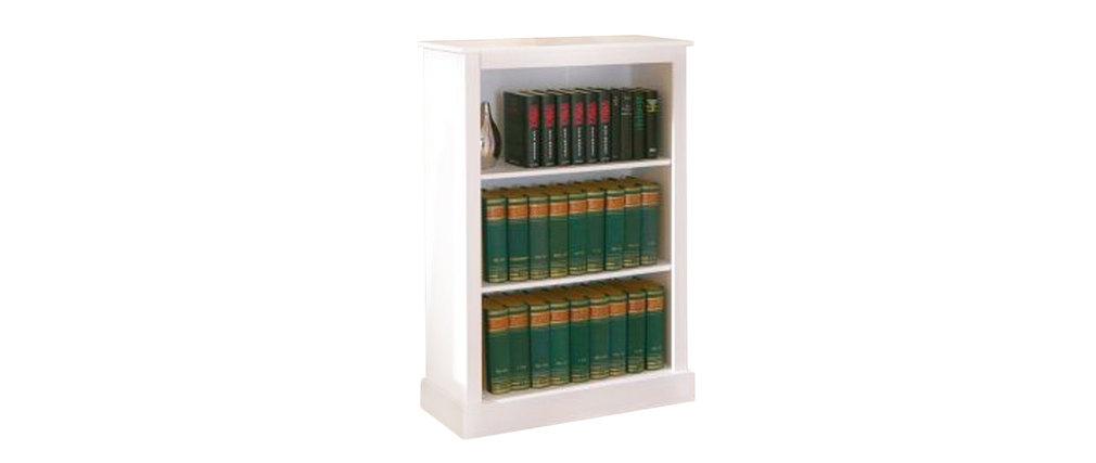 miliboo tag re biblioth que blanche pin massif cambridge. Black Bedroom Furniture Sets. Home Design Ideas