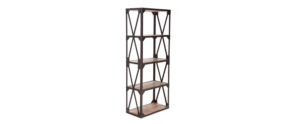 etag re bois massif et m tal industrielle atelier miliboo. Black Bedroom Furniture Sets. Home Design Ideas