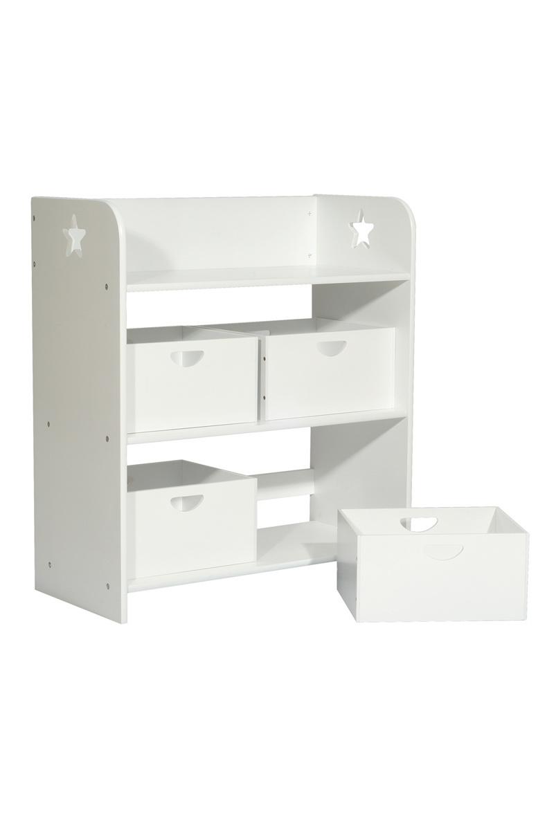 etag re de rangement enfant 4 bacs etoile miliboo. Black Bedroom Furniture Sets. Home Design Ideas