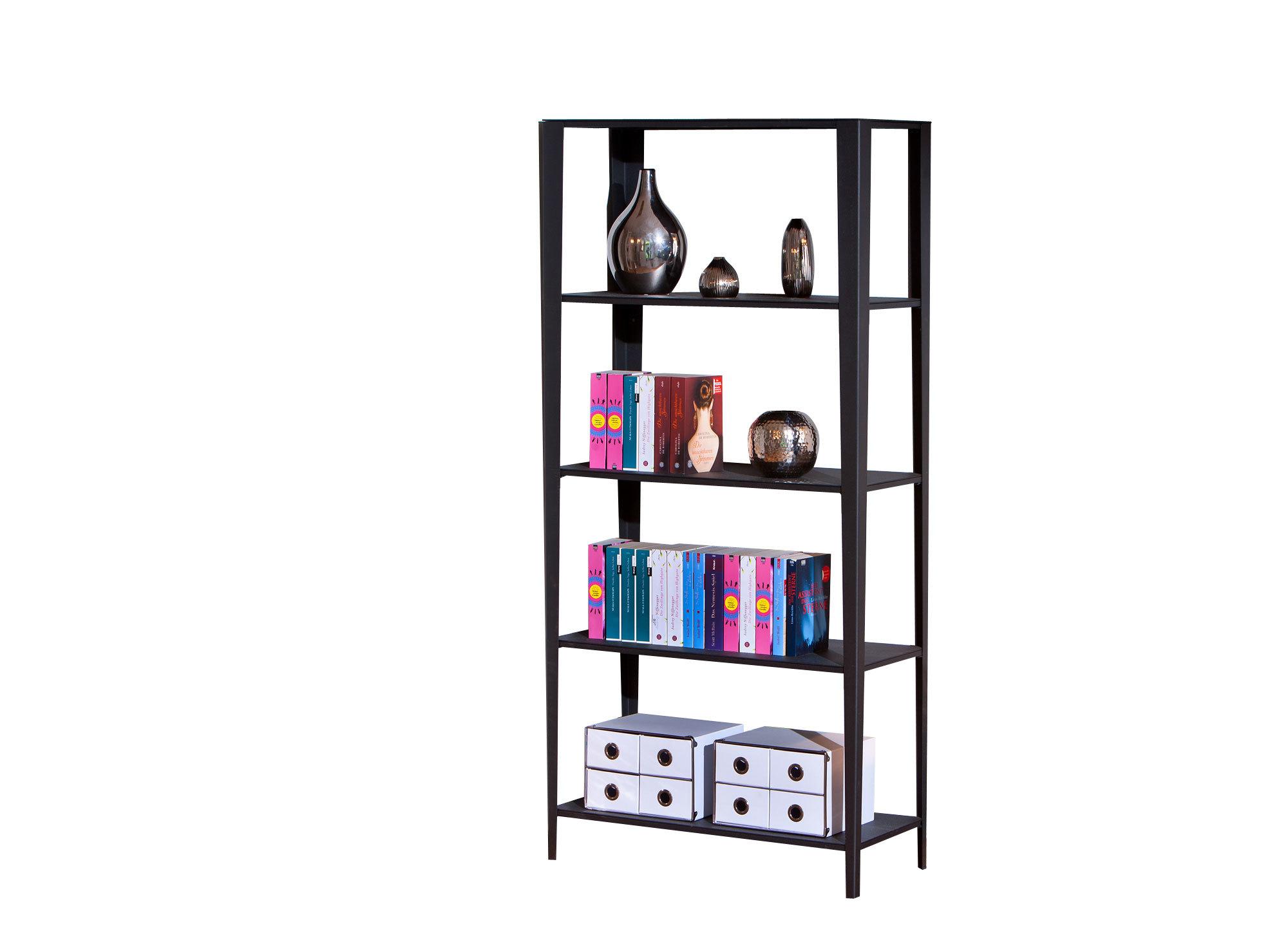 tag re design 5 niveaux m tal noir meta miliboo. Black Bedroom Furniture Sets. Home Design Ideas