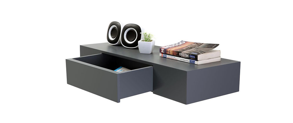 tag re design avec tiroir grise yza miliboo. Black Bedroom Furniture Sets. Home Design Ideas