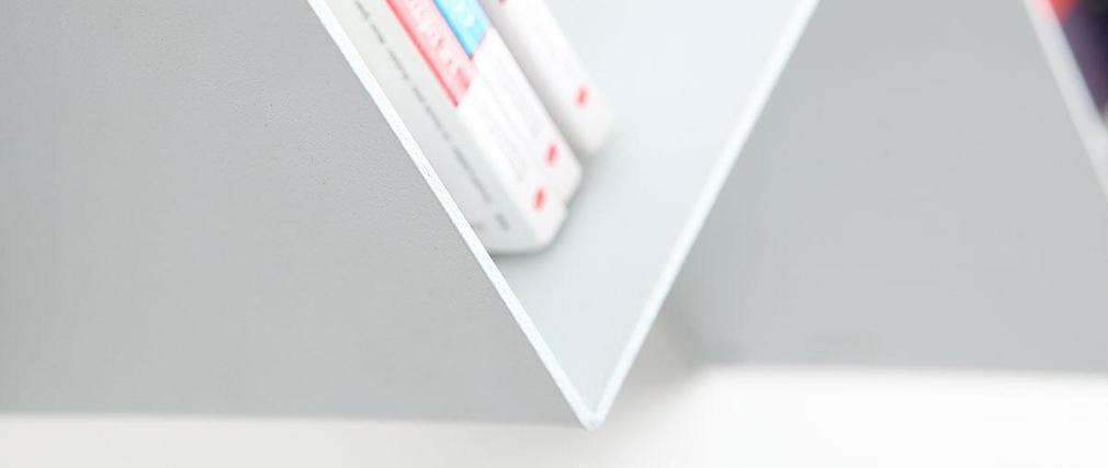 Etagère design métal blanche ZIG ZAG