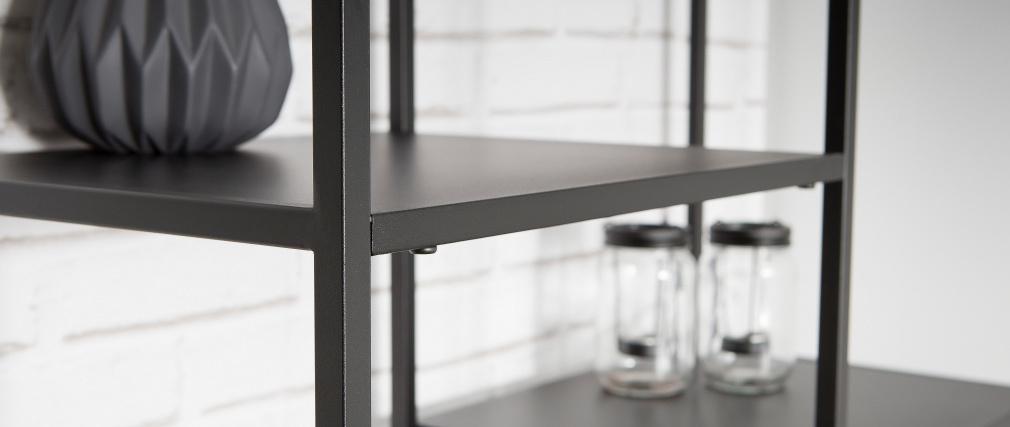 Étagère design métal noir ZEPPELIN
