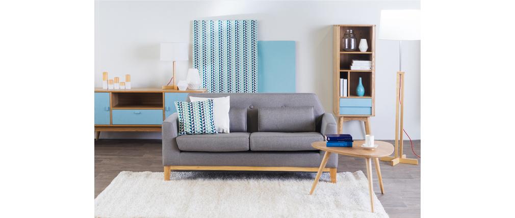Etagère design scandinave frêne bleu clair BALTIK
