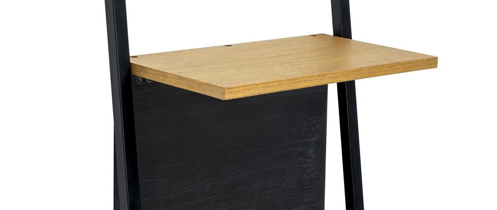 Étagère échelle industrielle bois et métal noir SERAH
