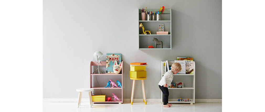 Tag re enfant blanc ludik miliboo for Etagere enfant deco