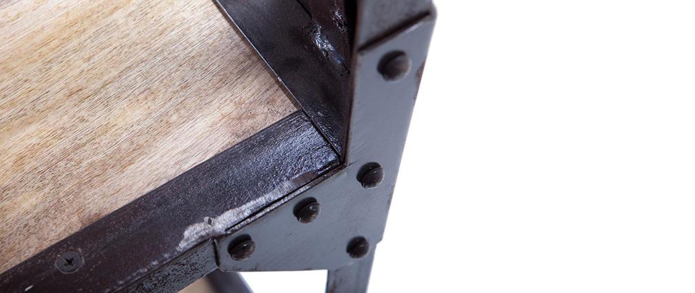 Étagère industrielle manguier massif et métal ATELIER