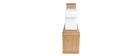 Étagère modulable bois clair et blanc BRICK