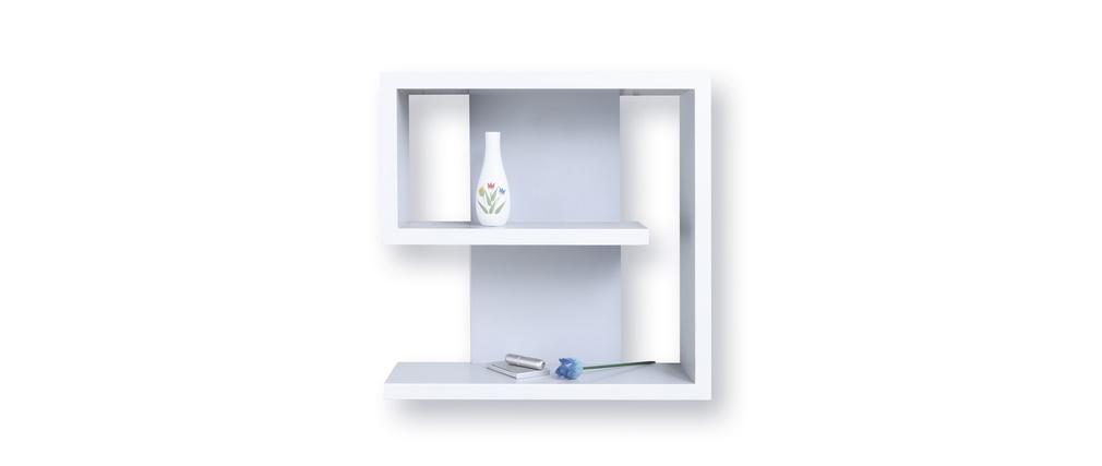 etag re murale blanche design nine miliboo. Black Bedroom Furniture Sets. Home Design Ideas