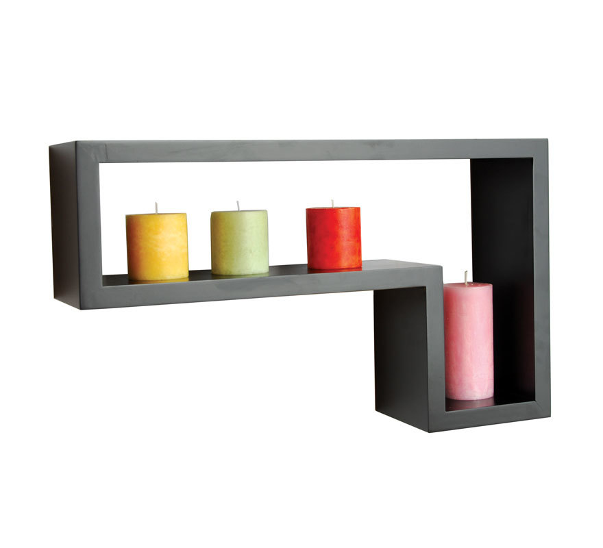 Etag re murale contemporaine en bois noir fulton lot de 2 miliboo - Etagere murale contemporaine ...