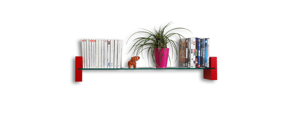 Preview - Etagere murale rouge ...