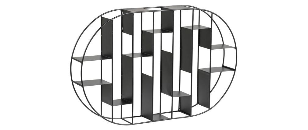 Étagère murale en métal noir OXO