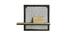 Étagère murale industrielle métal et manguier massif L50 cm RACK