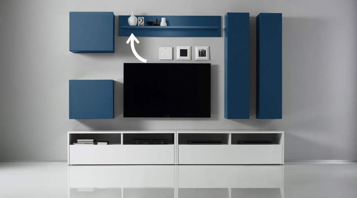 etag re murale laqu e colored turquoise miliboo. Black Bedroom Furniture Sets. Home Design Ideas