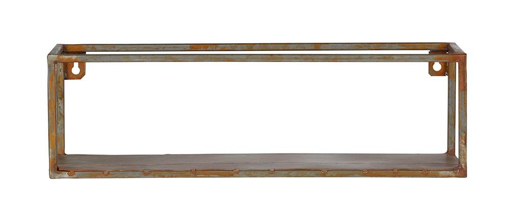 Etagère murale métal rouillé 50cm MOHO