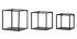 Étagères murales carrées industrielle métal noir (lot de 3) KARL