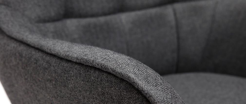 Fauteuil avec repose-pieds gris MOOD - Miliboo & Stéphane Plaza